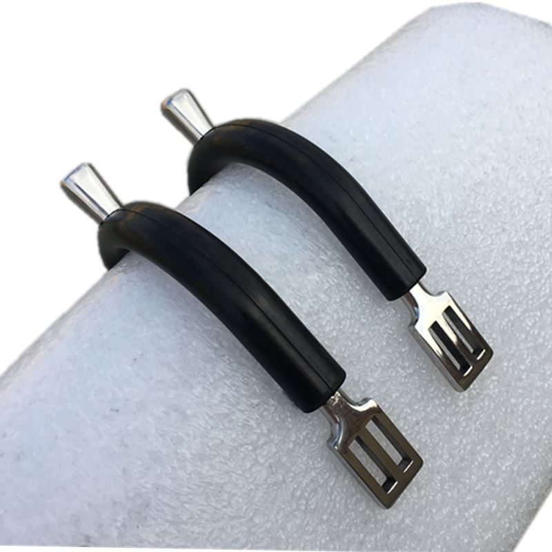 Stainless Steel English Horse Spurs Wrapped Black Rubber Horse Spur Horse Tack Equine L2001