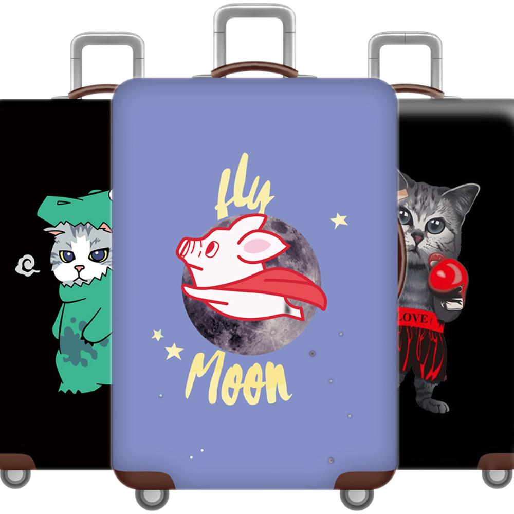 Cartoon 3D Cat Luggage Case Protective Cover Cute Animal Waterproof Elastic Suitcase Cover For 18-32 Inch XL Travel Accessorie