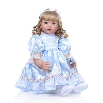 """24"""" 60cm Realistic Soft Silicone Reborn Baby Big Size Cloth Body Bonecas Infantil Meninas Doll Reborn Toddler Brinquedos Juguete"""