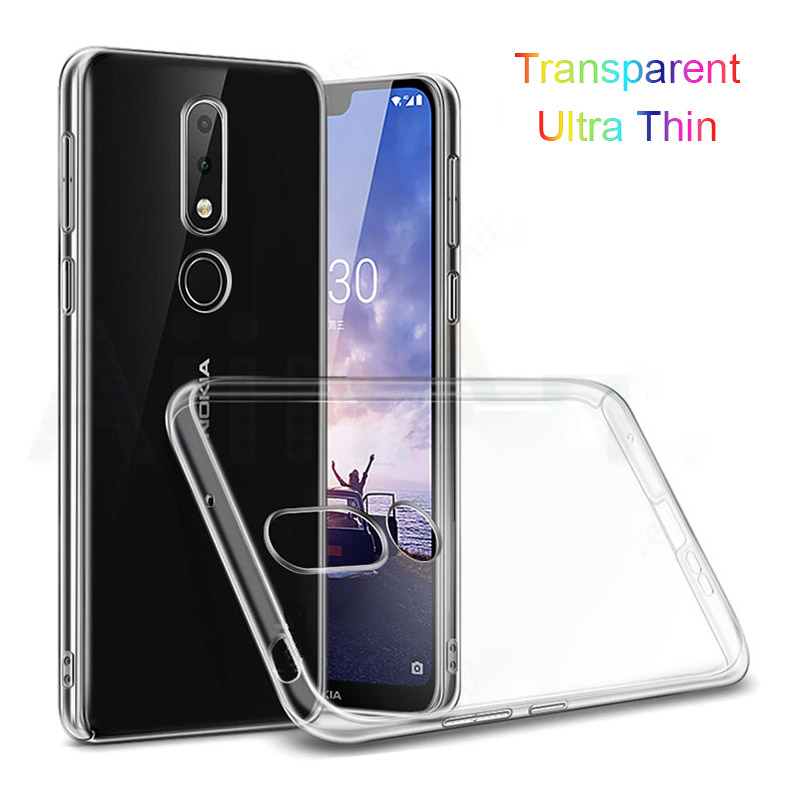 Slim Transparent <font><b>TPU</b></font> Case for <font><b>Nokia</b></font> X6 2018 / <font><b>Nokia</b></font> <font><b>6.1</b></font> Plus Case Silicone Soft Phone Back Cover Shockproof 6.1Plus TA-1099 5.8