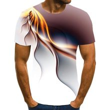 Nueva gran oferta 2020! Camiseta hombre pará de manga corta con estampado 3D, camiseta con rayos sueltos de cuello redondo, cam