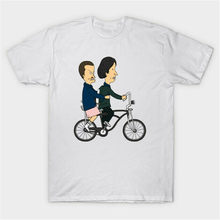 Beavis And Butthead As El And Mike Strangely Stupid Funny White T-Shirt Breathable Tee Shirt(China)