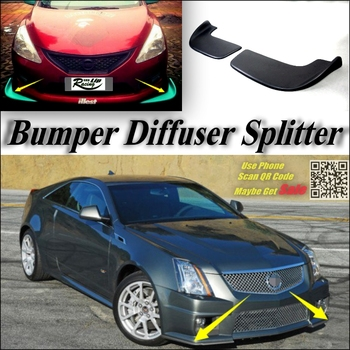 Car Splitter Diffuser Bumper Canard Lip For Cadillac CTS CTS-V Tuning Body Kit Front Deflector Car Flap Fin Chin Reduce Refit image