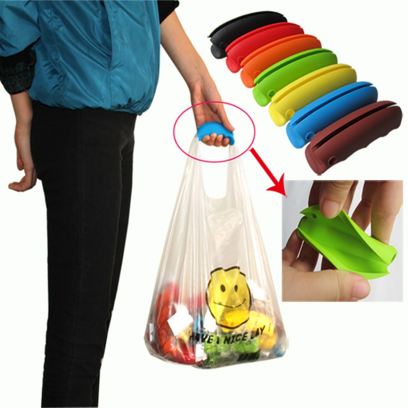 #<font><b>82018</b></font> Hot Product Colorful Bag Clips Soft Bag Comfortable Carry Handle Shopping Bag Handle Kitchen Tools LY3 CM image