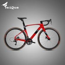 Cyclonepro freio a disco de fibra carbono bicicleta estrada 22 velocidade variável pacote transmissão avançada carro esportivo 700c cidade bicicleta estrada