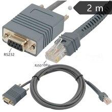 Кабель ERE LS2208 RS232 серийный для сканера штрих-кода LS2208 LS1203 LS2208 LS 4208 LS4278 LS7708 LS9208 кабель от RJ45 до DB9