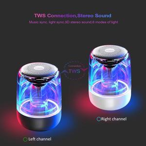 Image 4 - Lewinner C7 Bluetooth V5.0 kablosuz hoparlörler HiFi Stereo sütun taşınabilir hoparlör romantik renkli mikrofon ile ışık