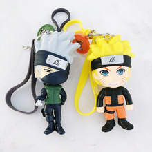 Hot 3D Anime Keychain Keyring Naruto Keychain Figure Kakashi Naruto Doll Key chain Car Bag Charms Pendant for Cosplay Gift цена и фото