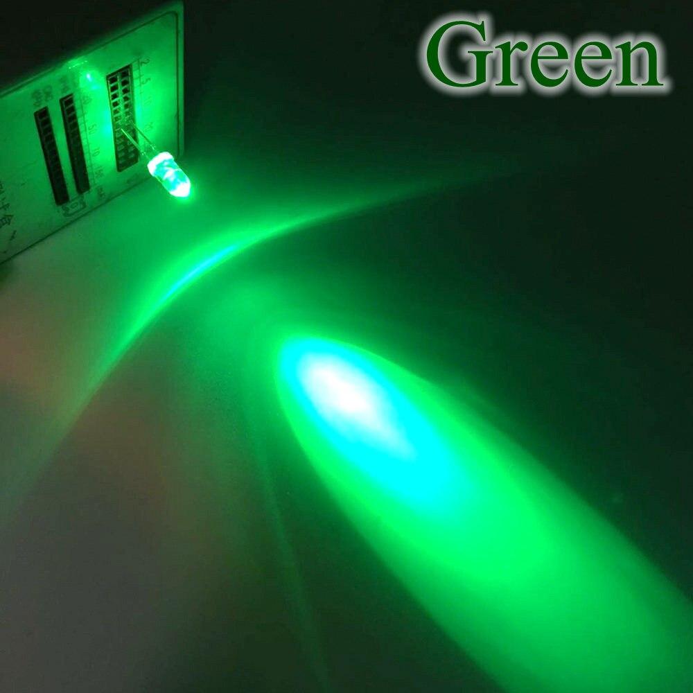 20X F5 5 мм круглый белый, красный, зеленый, синий, желтый, розовый прозрачный Диод Led супер яркий светодиод 6000-6500k лампа - Испускаемый цвет: Зеленый