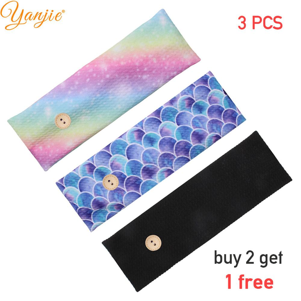 Women Man Button Headband With Buttons 2020 Fashion Facemask Holder Headbands Protect Ears Sports Hair Accessories Wholesale