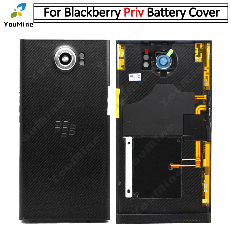 For BlackBerry Priv Battery Cover Housing Door Back Case with Camera Lens Replacement Parts for Blackberry Priv back housing(China)