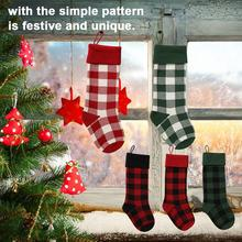 New High-quality Christmas Stockings Wall Decoration Gift Bag Knit Candy Plaid Soft And Comfortable Socks Pendant Wholesale