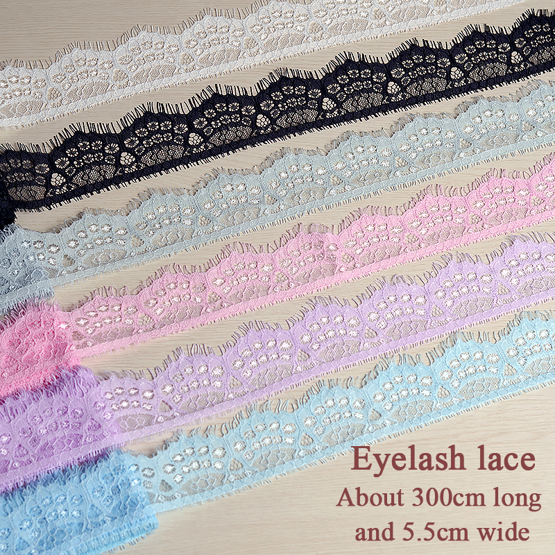 Hollow Eyelash Lace Accessories Hand DIY Material Garment Cuff Neckline Decoration Lace Soft, Delicate, Comfortable