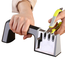 Professional Knife Sharpener 4 in 1 Diamond Coated&Fine Ceramic Rod Shears and Scissors Sharpening System Kitchen Tools