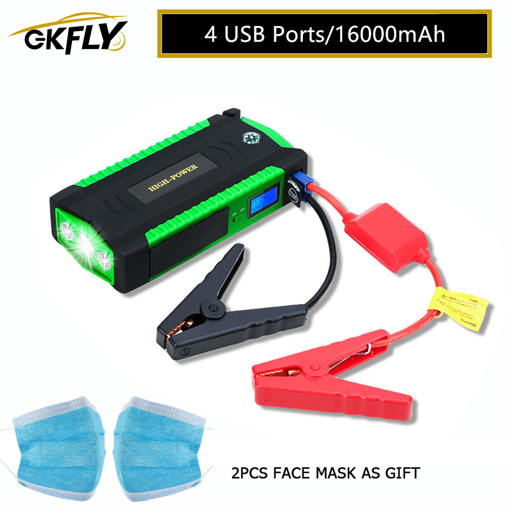 GKFLY Car Jump Starter Emergency Starting Cables Device 12V Multifunction Battry Portable Mini Booster 600A Buster Jumper New