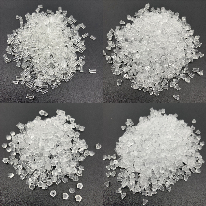 200pcs 3/4/5/6MM Soft Silicone Rubber Earring Back Stoppers For Stud Earrings DIY Jewelry Making Earring Findings Accessories