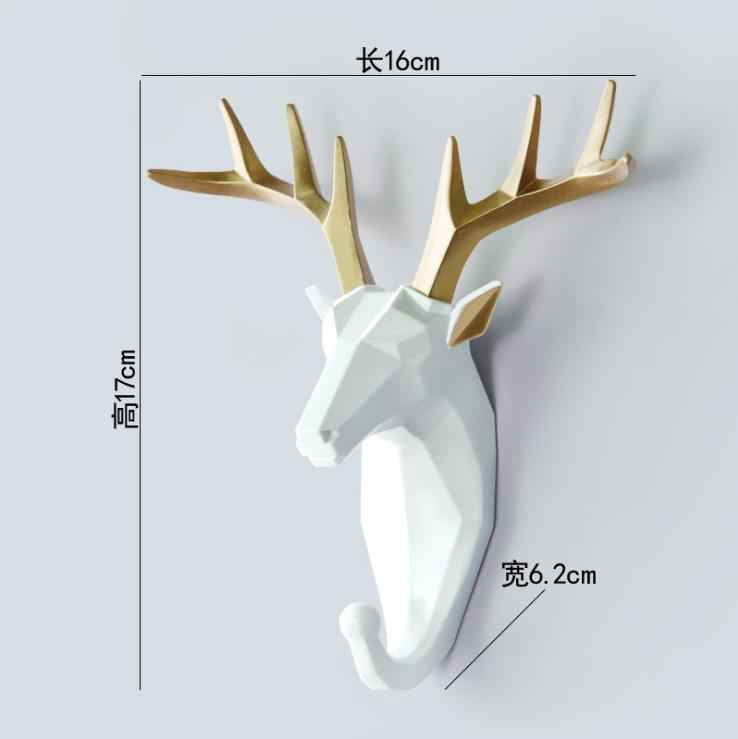 Lch Moderne Europese Stijl Creative Resin Animal Art Geometrische Clip Doek Haak Sleutels Houder Deurknop Pull Kleding Haak