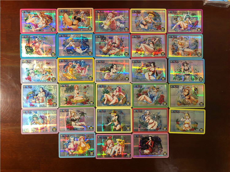 28pcs/set ONE PIECE Sexy Girls Toys Hobbies Hobby Collectibles Game Collection Anime Cards