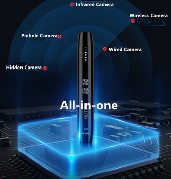 NewAnti Spy Camera Detector Pen Wireless RF Signal Eavesdropping Pinhole Hidden Cam Audio Bug GSM GPS Wiretapping Device Scanner 5