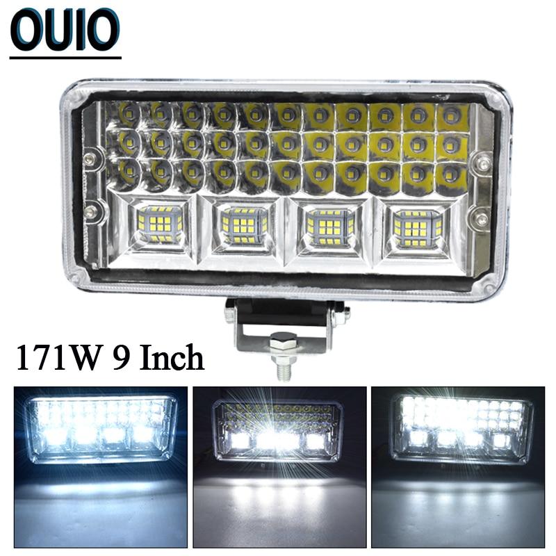 2PCS 9inch 100W 12V Xenon HID Work Light Spot Flood Lamp Offroad Truck Boat Fog