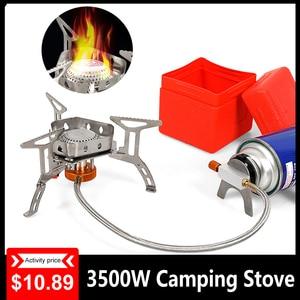 3500w Camping Gas Stove Burner Split Ultralight Cookware Burner for Outdoor Hiking Equipment Cookware Camping Split Gas Stove