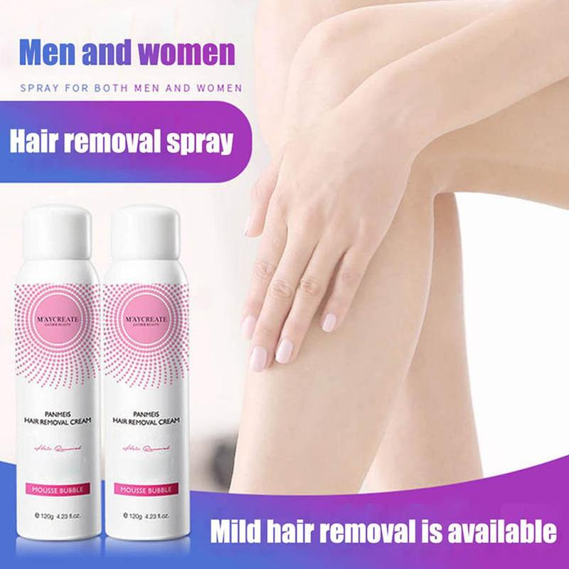 120ml Painless Hair Removal Spray Panmeis Hair Remover Cream Foam Depilation Spray For Men Women