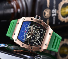 Nowy Richard męskie zegarki Top marka luksusowe zegarki męskie Mille kwarcowy automatyczne zegarki na rękę mężczyzna zegar tanie tanio OYALIE 20inch Luxury ru QUARTZ Nie wodoodporne Klamra DE (pochodzenie) STAINLESS STEEL 20mm Hardlex Skórzane RUBBER 44mm