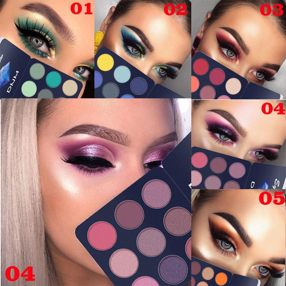 9 Colors Shimmer And Shine Diamond Eyeshadow Powder Eyeshadow Makeup Pallete Glitter Matte Eye Shadow Palette Pigment Cosmetics
