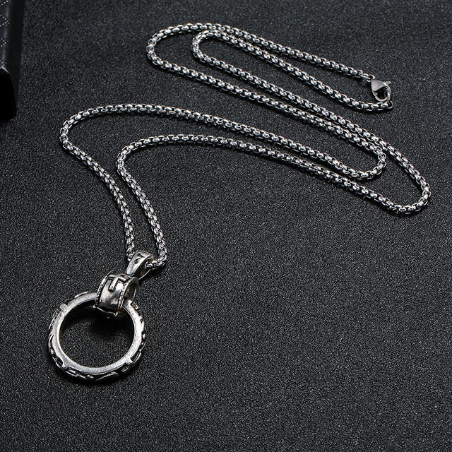 STAINLESS STEEL CROSS GOTHIC STYLE NECKLACE