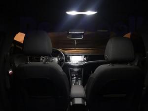 Image 3 - 15 x Error Free for Opel for Vauxhall Mokka 2012+ License Plate Lamp +Canbus LED Interior Map Dome Light Bulbs Kit