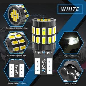 Image 3 - 10 sztuk T10 LED żarówki Canbus dla BMW E90 E60 biały 168 501 W5W lampa LED klin światła wewnątrz samochodu 12V 6000K czerwony bursztyn żółty niebieski