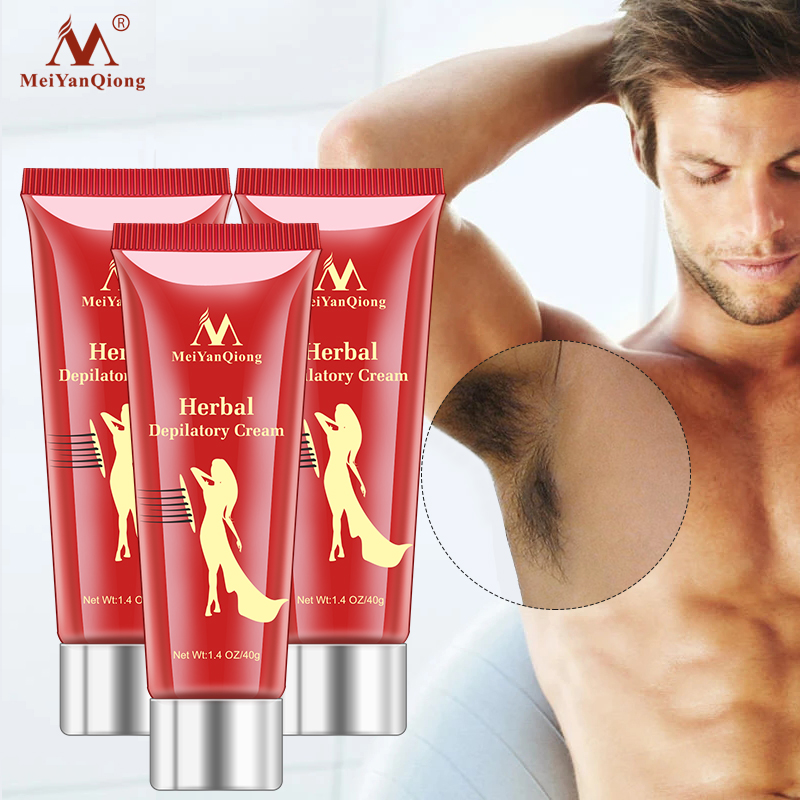 3pcs/lot Herbal Hair Removal Cream Depilatory Painless Cream Removes Underarm Leg Hair Body Care Shaving and Hair Removal
