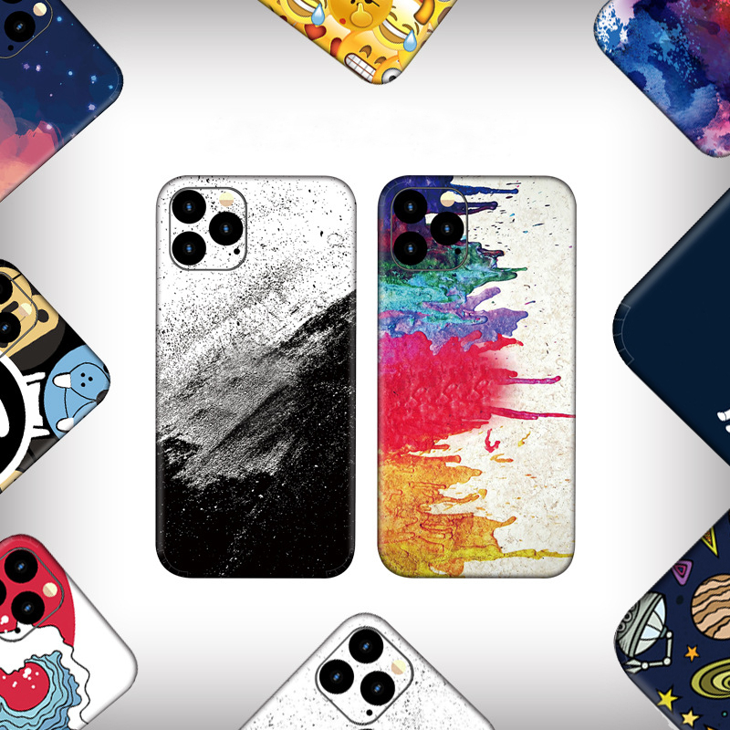 Colorful Cute Pattern Matte Skins Film Wrap Skin Phone Back Sticker For Iphone 11 Pro MAX / 11 Pro / 11 Lovely Cartoon Sticker