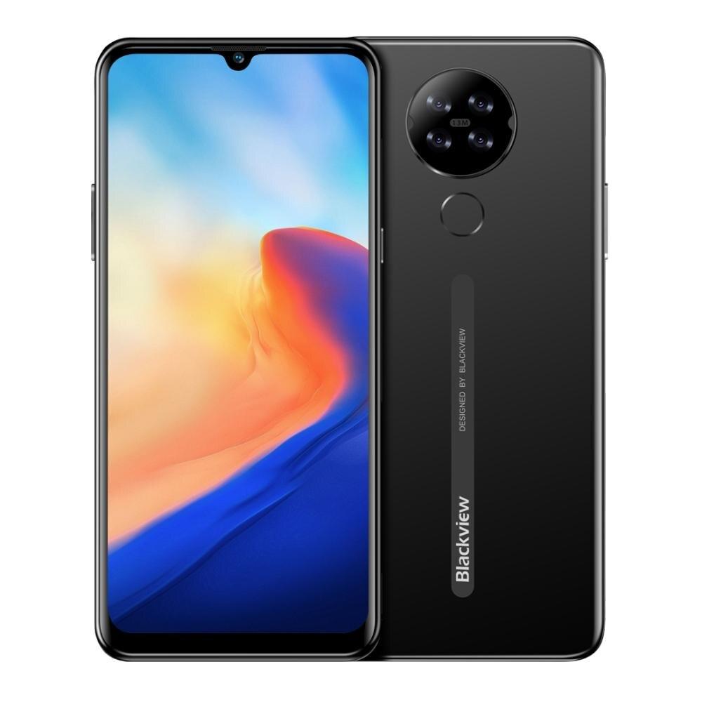 Telefone traseiro do andróide 10 da câmera do quadrilátero de blackview a80 6.2 phone waterdrop tela 2 gb + 16 gb mtk6737 quad core 4g bateria do telefone móvel 4200 mah