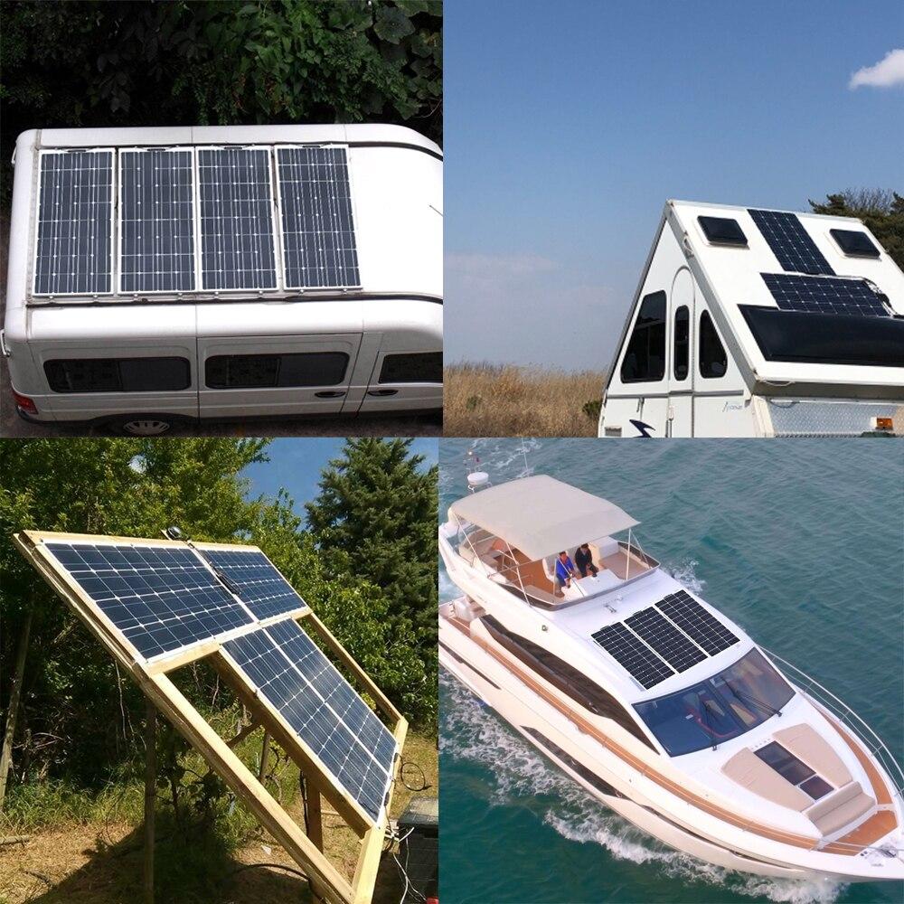 Boguang Brand Solar panel 2 piezas 100w 200W Flexible Panel Solar módulo sistema RV coche barco marino uso doméstico 12V /Kit de bricolaje de 24V paneles solares panel de aislamiento - 5