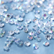 About 500Pc 2mm Mix Sizes Nail Rhinestones Crystal Clear AB Non Hotfix Flatback Rhinestone for DIY Nails 3D Nail Art Decoration Gems(China)