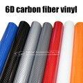 Автомобильный стиль  глянцевая 6D Черная Виниловая пленка из углеродного волокна  автомобильная пленка из углеродного волокна  рулонная пле...