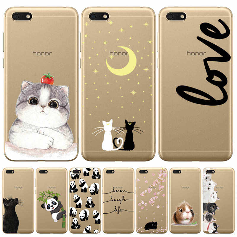 "Silicone case For Huawei Honor 7A Case 5.45"" inch Soft Phone Case For Huawei Honor 7A 7 A DUA-L22 Russian Back Cover Coque"