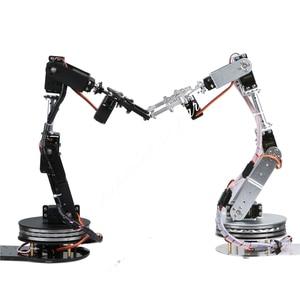 Image 3 - Arduino Robot 6 DOF Alluminio Morsetto Claw Mount Meccanico Braccio Robotico Servi Metallo Servo Horn con Ruota Flangia di Base 20% OFF