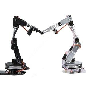 Image 3 - Arduino Robot 6 DOF alüminyum kelepçe pençe montaj mekanik robotik kol Servo Metal Servo boynuz döndürme flanş tabanı 20% kapalı