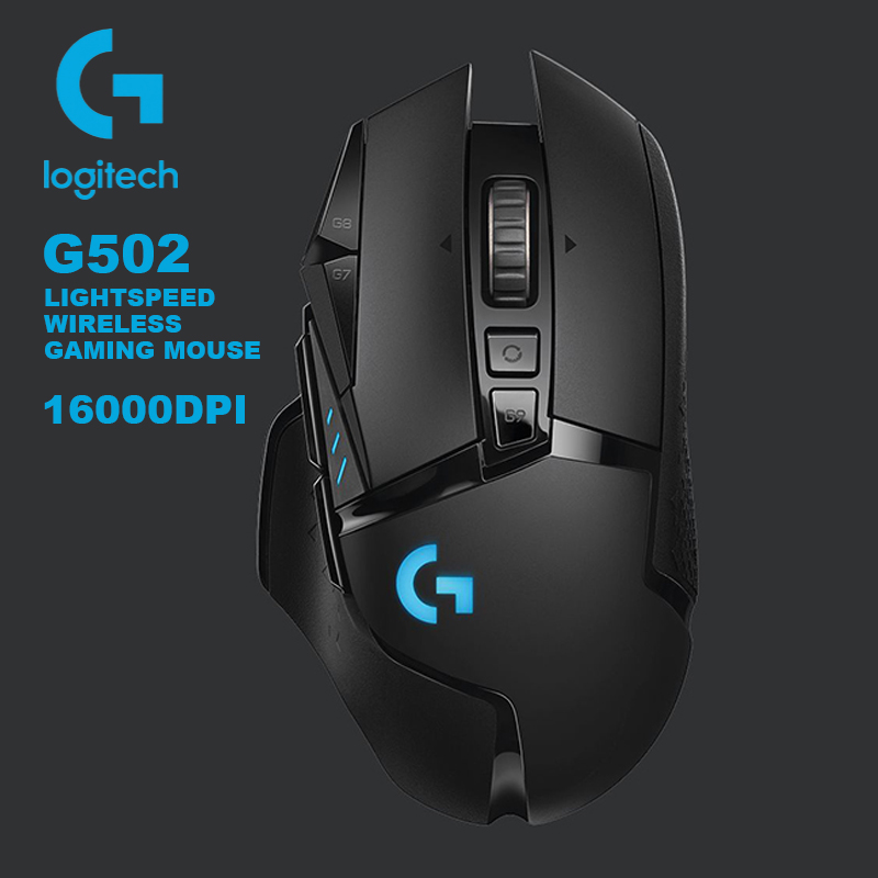 Logitech G502 LIGHTSPEED Wireless Gaming Mouse 2.4GHz Wireless HERO 16000DPI Support Windows10 8 7 for MMO MOBA RGB Gaming Mouse image