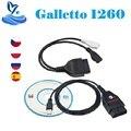 ECU-чип Galleto 1260 EOBD/OBD2/OBDII Flasher 1260, Чип ECU с чипом FTDI Galletto 1260 Diagnsotic интерфейс 1260, инструмент для настройки