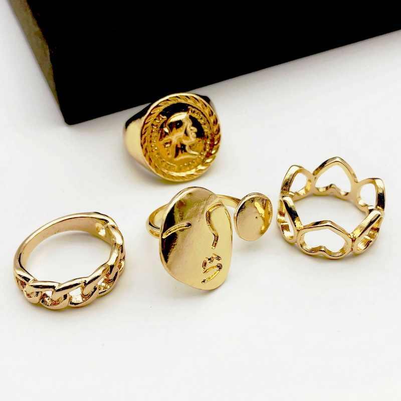 F. j4Z ออกแบบใหม่สำหรับ Men & Women Face Circle Top แหวนผู้หญิงแหวนของขวัญเครื่องประดับ anillos de mujeres dropship