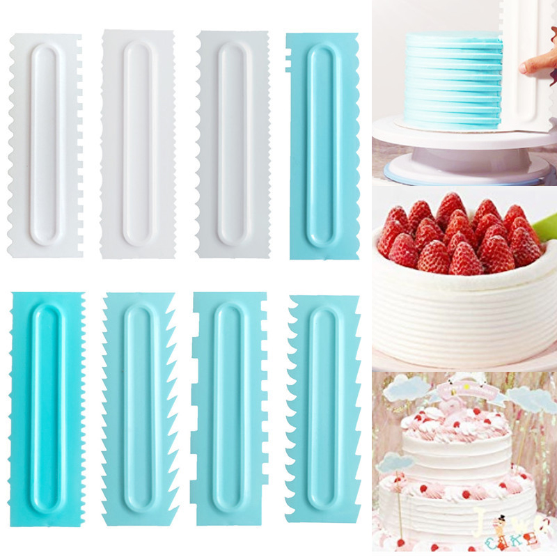 Fashion <font><b>Cake</b></font> Decorating <font><b>Cake</b></font> <font><b>Scraper</b></font> <font><b>Smoother</b></font> Cream Decorating Icing Comb Fondant Spatulas Baking Pastry Tools image