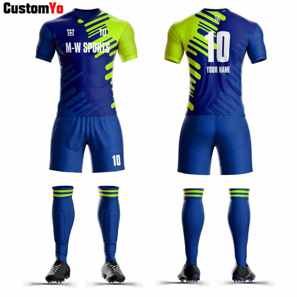 Best Quality Football Kits Sublimated Custom Football Uniforms Sports Football Jersey 2019