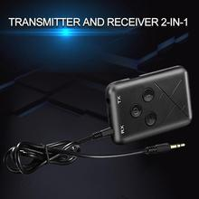 Bluetooth Transmitter Receiver 2-in-1 3.5mm 5.0 Audio Receive For Speaker