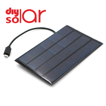 DC Solar Panel 400mA 2W 5V USB Micro Output Battery Charger 1