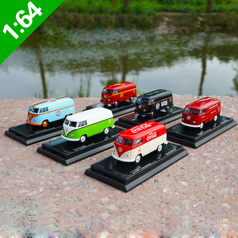 1:64 High Meticulous VW T1 Van Cargo Bus Alloy Model Car Static Metal Model Vehicles