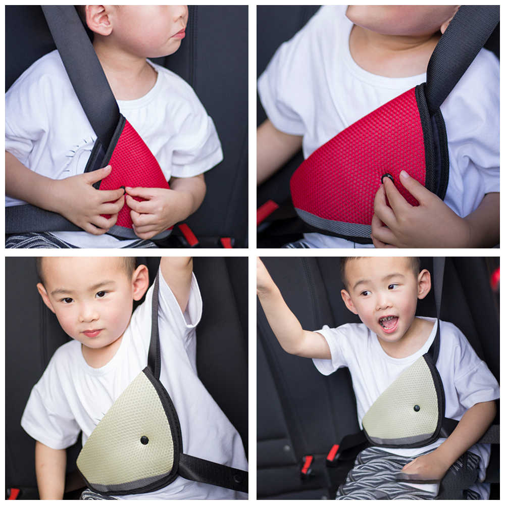 LEEPEE Baby Child Protector Covers Car Safety Belt Adjust Device Shoulder Triangle Safety Seat Belt Adjuster Pad
