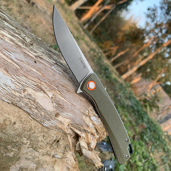 Folding knife Ball bearing tactical knives D2 Blade High-end linen handle outdoor Hunting knife EDC Camping Multi Tools TUNAFIRE 2